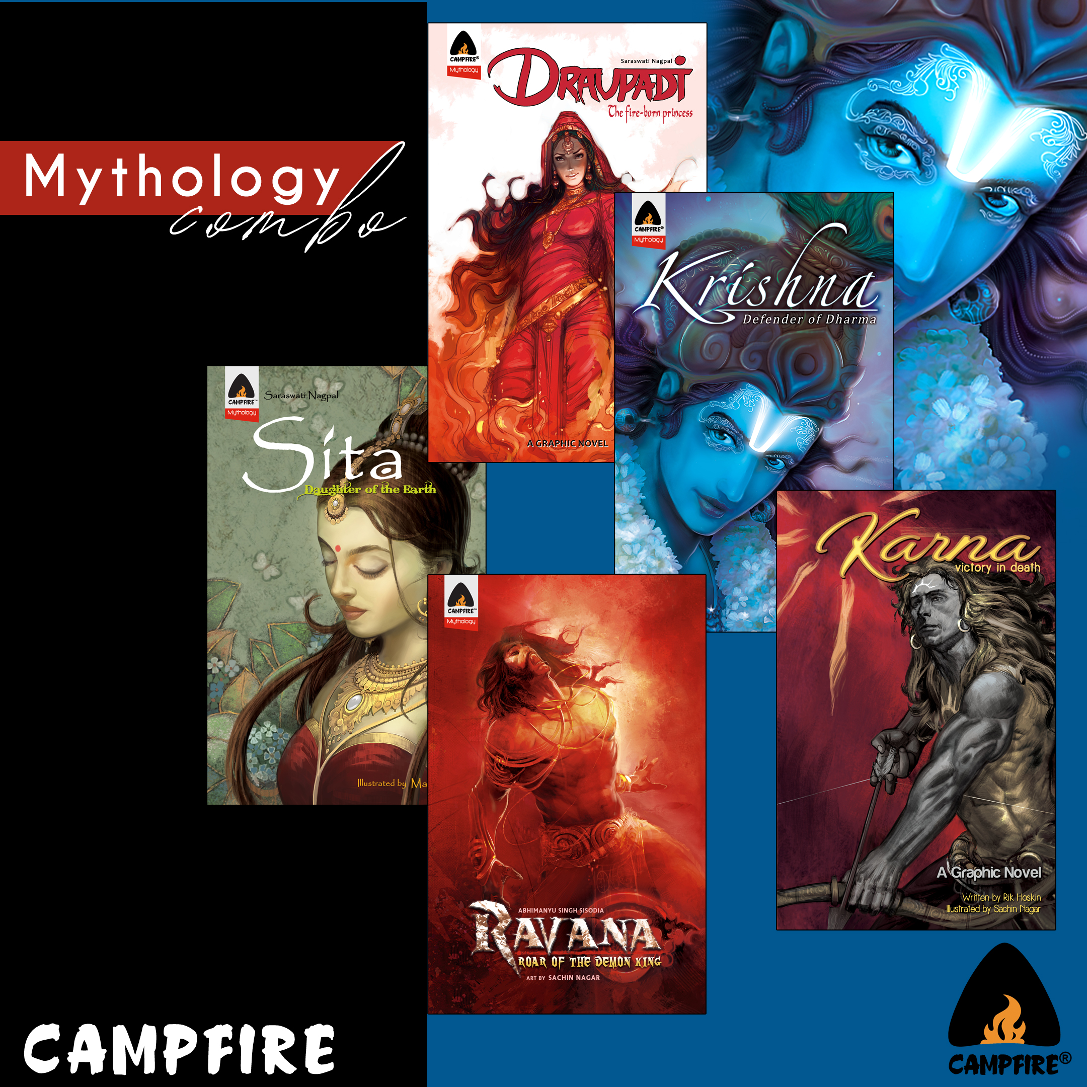 Indian Mythology (Combo of 5 Books)